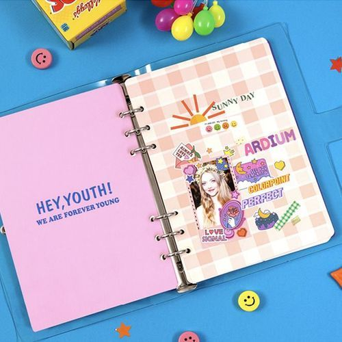 Retro Color Point 6 Ring A5 Cover Paper Refill