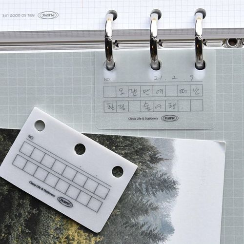 Sticky 6 Ring Binder Label Holder