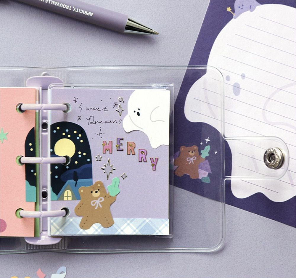 Merry 3 Ring Button Binder + Note Set
