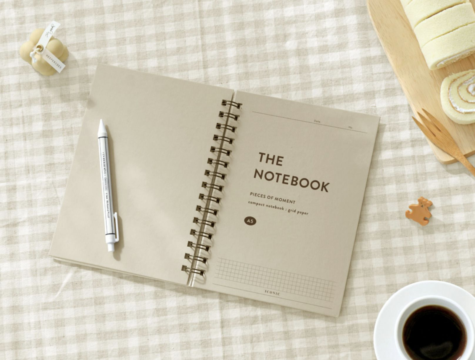 Pieces of Moment A5 Hardcover Grid Notebook
