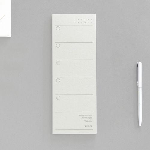 Simple Weekday Memo Pad