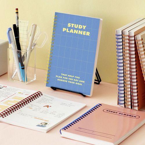 Retro Spiral Study Planner