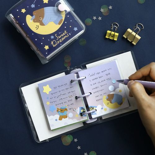 Merry 3 Ring Button Note Refill
