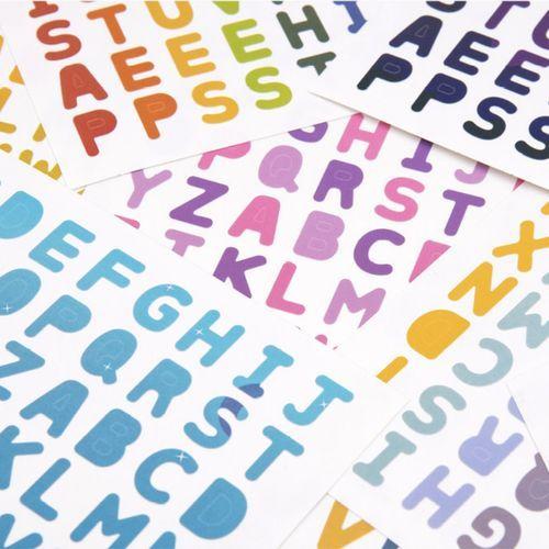 My Color Alphabet Deco Sticker