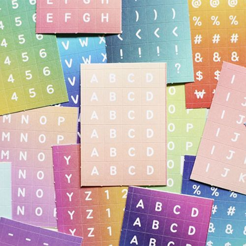 1152pcs Gradation Alphabet Sticker Set
