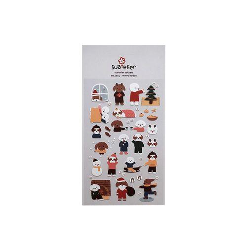 Merry Puppy Deco Sticker