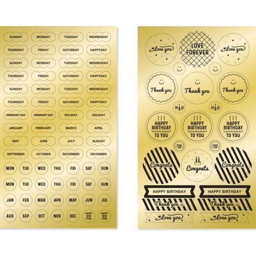 Gold Deco Sticker