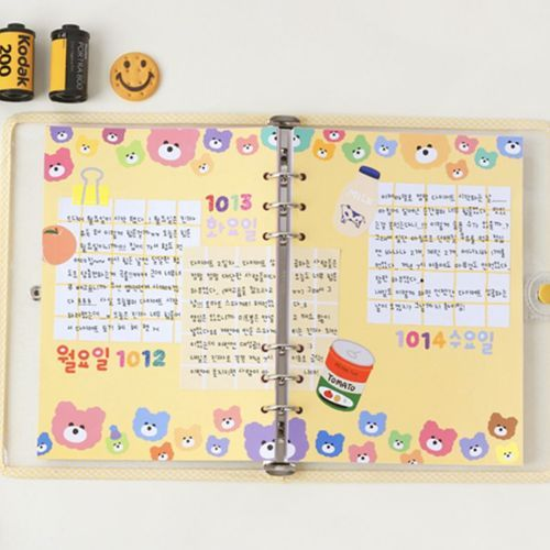 8 Color 6 Ring A5 Plain Note Refill Set