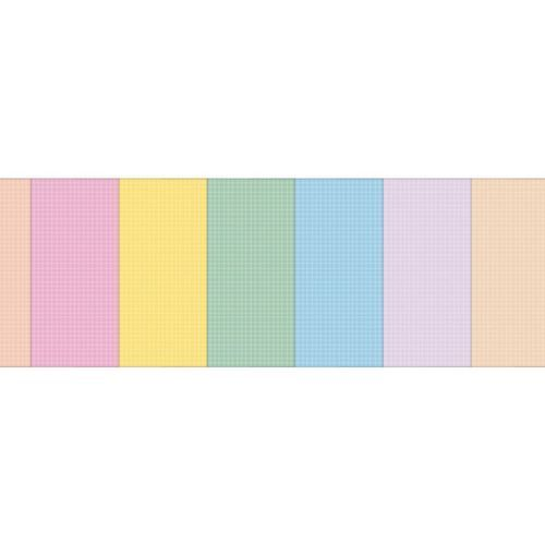 8 Color 6 Ring A5 Grid Note Refill Set