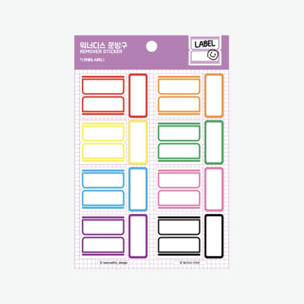 Clip & Label Removable Sticker