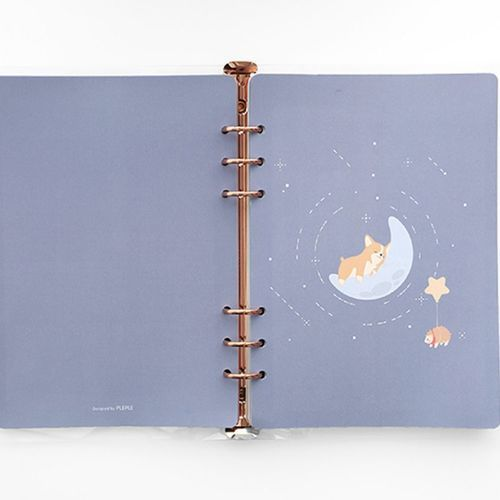 12 Months Baby Animal 6 Ring A5 Weekly Planner Refill