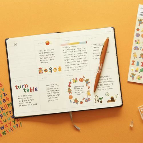 Mini Diary Removable Sticker v5