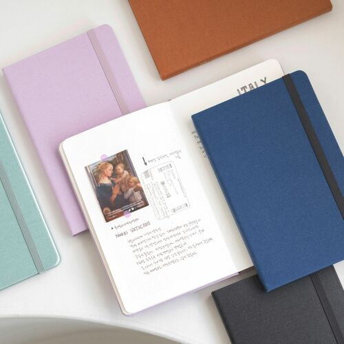 Medium Record Hardcover Grid Notebook