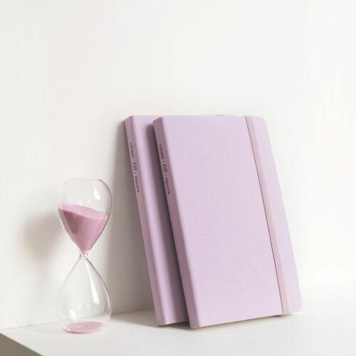 Medium Record Hardcover Grid Notebook