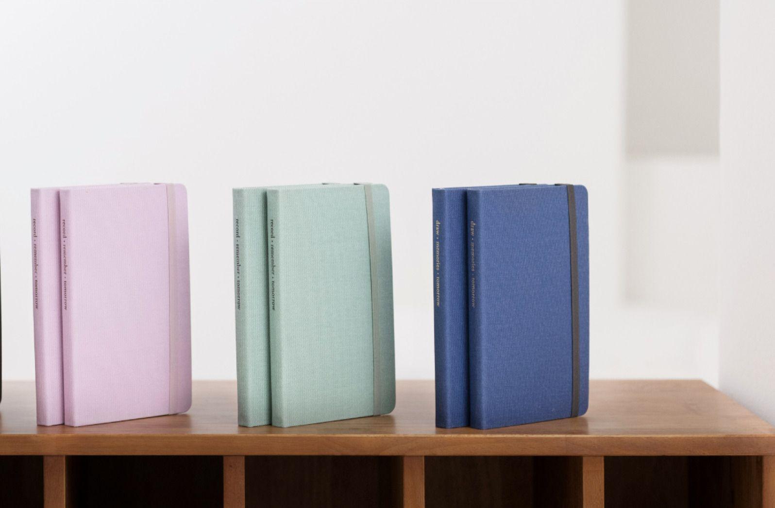 Medium Record Hardcover Plain Notebook