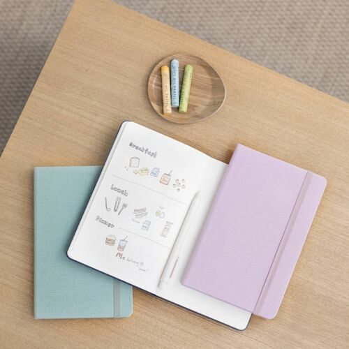 Medium Record Hardcover Plain Notebook