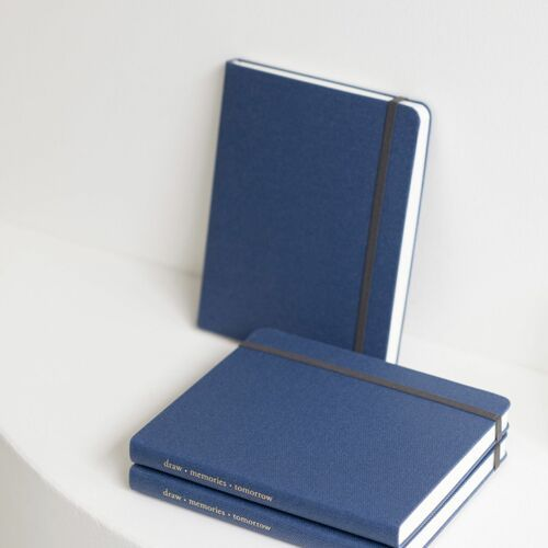 Wide Record Hardcover Plain Notebook