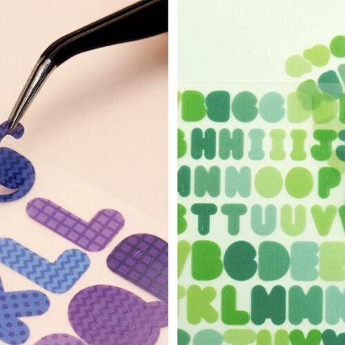 Colorful Matte Alphabet Sticker Set