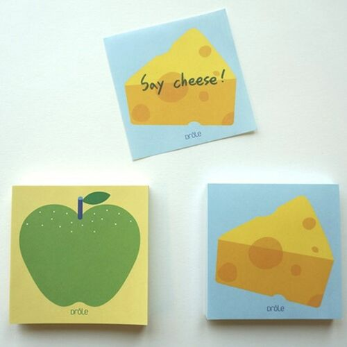 Cheese and Apple Memo Pad