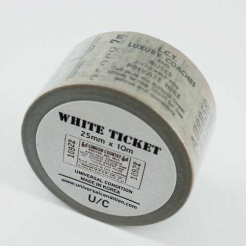 Vintage Ticket Washi Tape v2