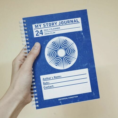 Blue My Story Daily Journal