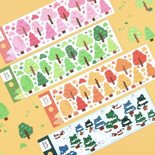 Four Seasons Tree Deco Sticker