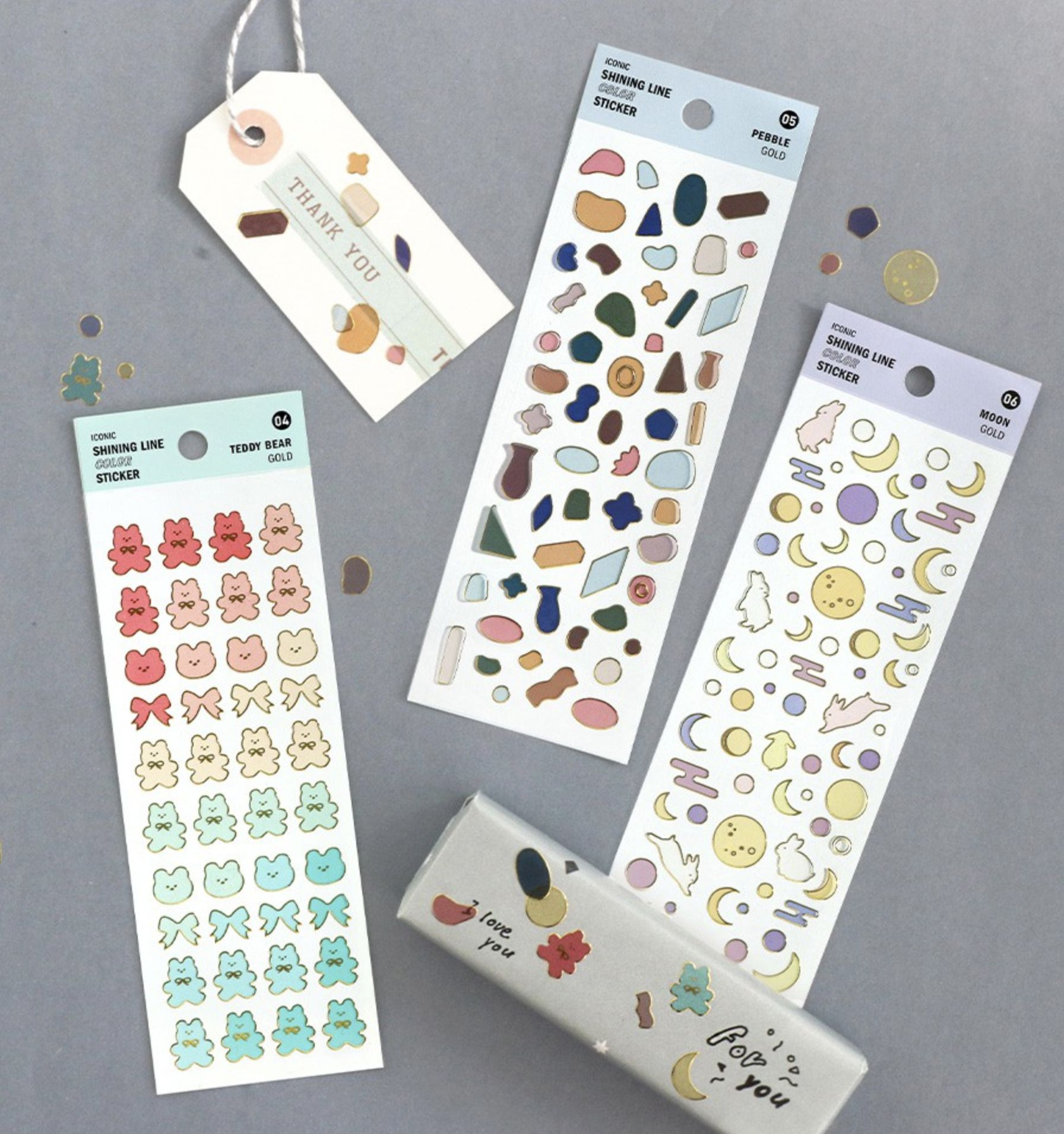 Shining Color Line Removable Sticker