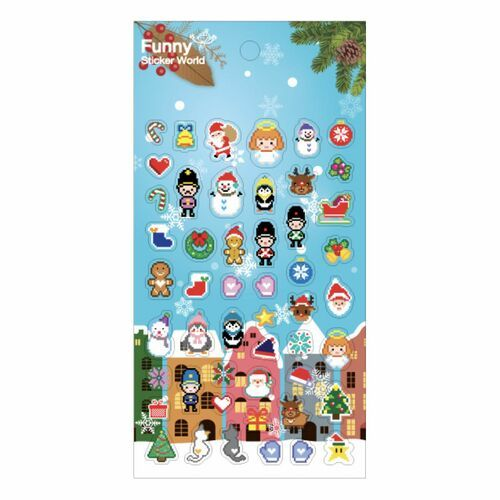 Winter Story 8-bit PVC Sticker