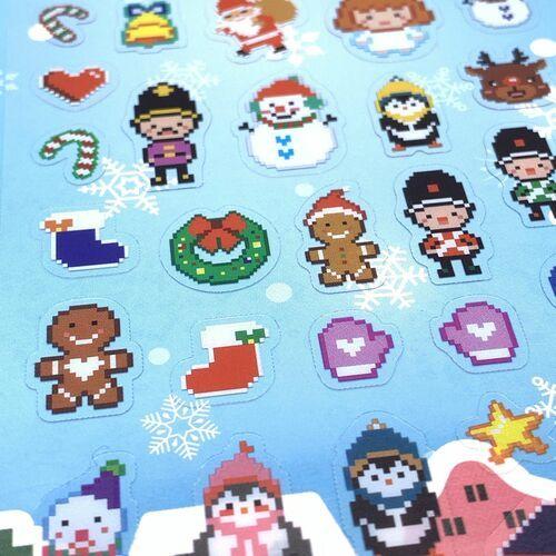 Winter Story 8-bit PVC Sticker