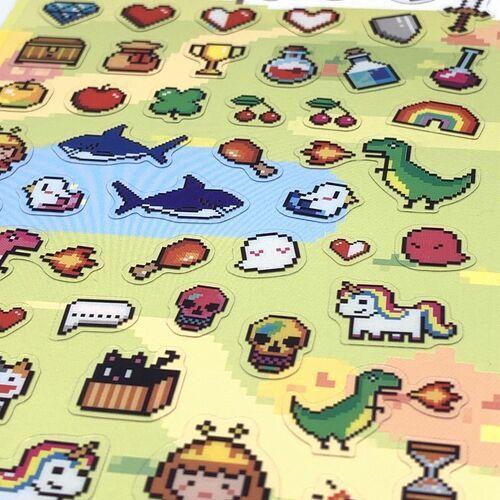 Adventure 8-bit PVC Sticker