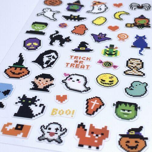 Trick or Treat 8-bit PVC Sticker