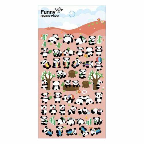 Panda Puffy Deco Sticker v1