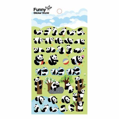 Panda Puffy Deco Sticker v2