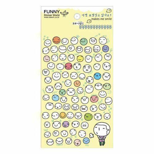 Fun Emoji Paper Sticker Set v2