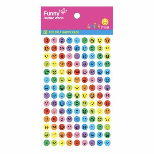 Mini Rainbow Emoji Sticker Set