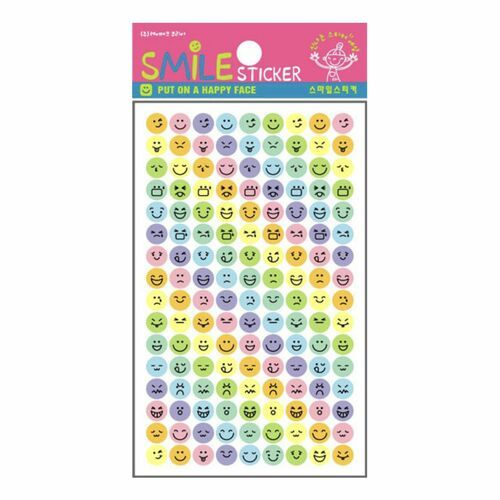 Mini Pastel Emoji Sticker Set