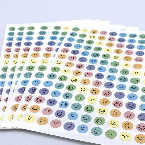 Mini Pastel Emoji Sticker Set