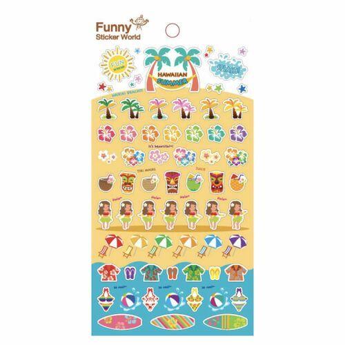 Hawaiian Summer Paper Sticker