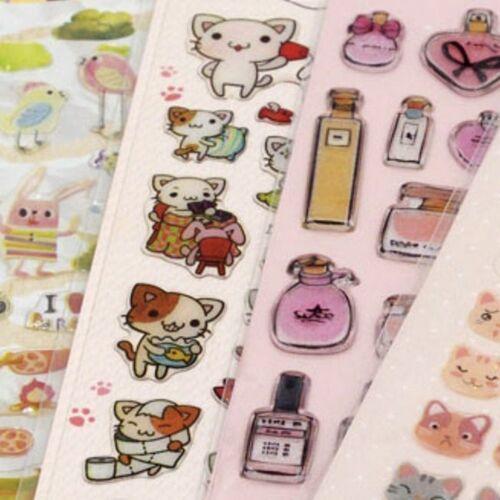Mini Cat Emoji Epoxy Sticker