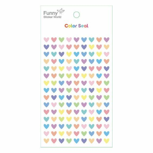 Mini Pastel Heart Epoxy Sticker