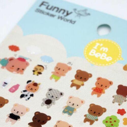 Bear OOTD Deco Sticker