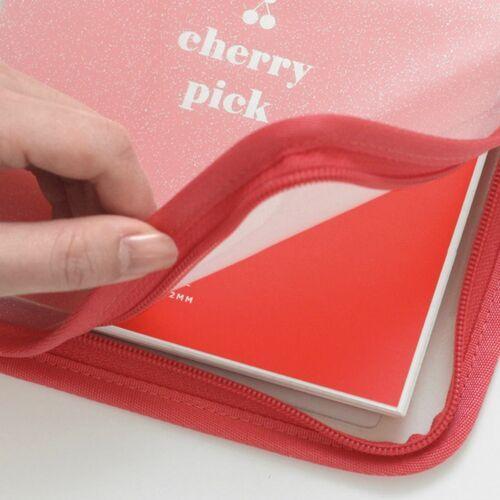 Milky Cherry Pick 6 Ring A6 Wide Zipper Binder
