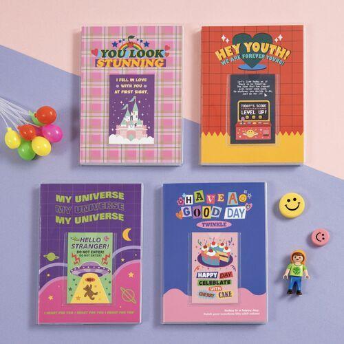 Retro Kitsch Pocket Lined Notebook