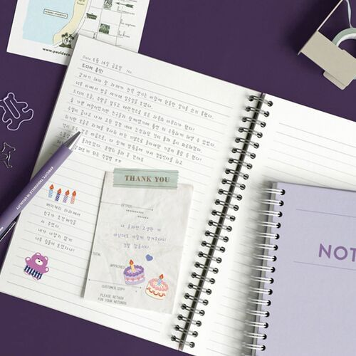 Pieces of Moment A5 Hardcover Lined Notebook