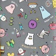 Ghost Pop Pencil Pouch, Gray