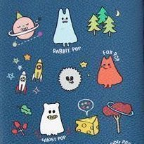 Ghost Pop Pencil Pouch, Navy