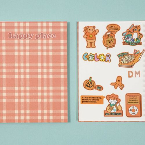 Pattern Check Double-sided Sticker Book