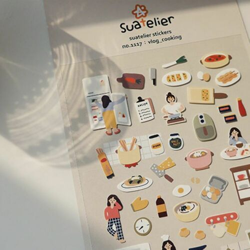 Cooking Vlog Deco Sticker
