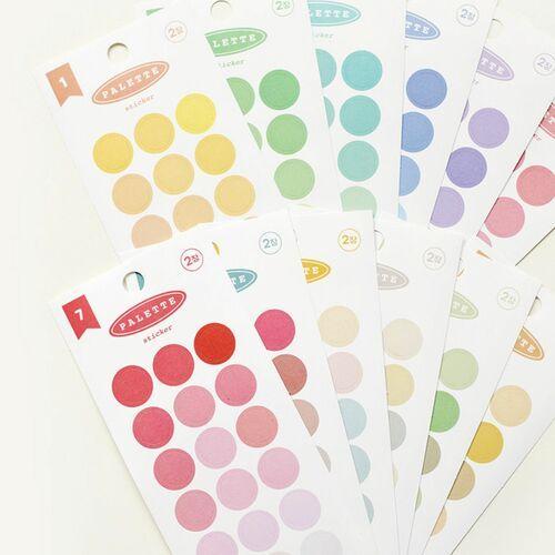 Simple Palette Round Sticker