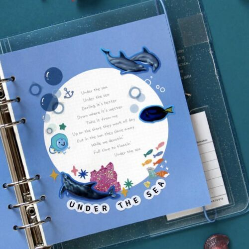 Circle Rainbow 6 Ring A6 Wide Note Refill